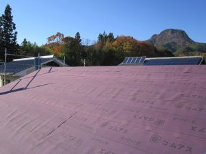 M様 施工中の屋根