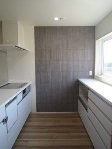 M様邸 白を基調としたキッチン