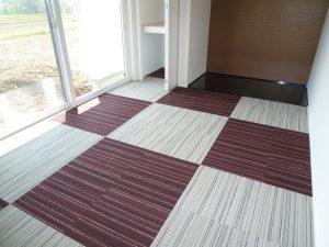 M様邸 和室のタイルカーペット