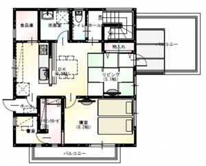 M様 2階平面図